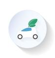 Environmentally friendly car flat icon vector