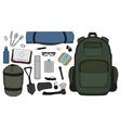 Camping set vector