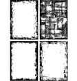 Collection of high detail grunge frames and elemen vector