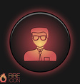 A male avatar picture a man round icon image guy vector