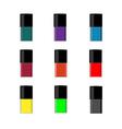 Nail polish bottle vector