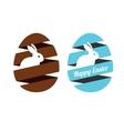 Easter egg ribbon vector