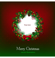 Bright christmas background with christmas wreath vector