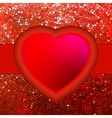 Abstract mosaic heart background eps 8 vector