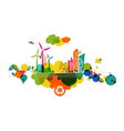 Go green transparent colorful city vector