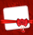 Beautiful card for valentine day with red rose and vector