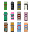 Cars top view set 2 vector