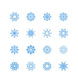 Blue snowflakes and shadow on white background art vector