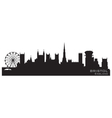 Bristol england skyline detailed silhouette vector