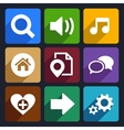 Multimedia flat icons set 4 vector