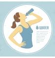 Drinking water 1 vector