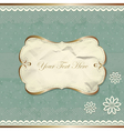Vintage border with lace and flowers vector