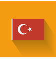 Flat flag of turkey vector