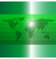 Green world map vector