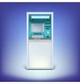 Atm isolated on background vector