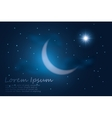 Crescent moon into the night sky vector