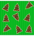 Seamless christmas pattern with tree vector