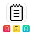 Notepad icon vector