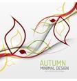 Autumn floral minimal background vector