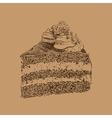 Cake sketch vector