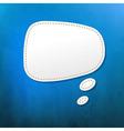 Blue texture with speech bubble vector