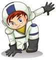A young astronaut vector