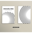 Book cover with abstract lines and twirl vector