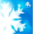 Blue winter abstract backround vector