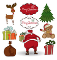 Christmas elements set isolated on white vector