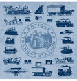 Transportation antique set vector
