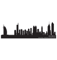Dubai emirates skyline detailed silhouette vector