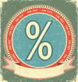 Percentage sign label vector