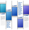 Blue window layout vector
