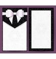 Elegant black and white wedding invitation vector