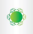 Atom or molecule chemistry sign science icon vector