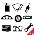 Car part icon set 8 vector