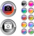 Photos multicolor round button vector