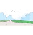 Cute park landscape vector