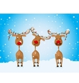 Reindeer celebrating winter holidays vector