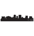 El paso texas skyline detailed silhouette vector