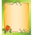 Floral frame with rose vector