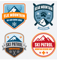 Ski badges vector