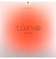 World cities labels - tokyo vector