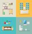 Flat design of house interior vector