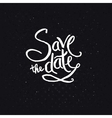 White texts for save the date concept vector