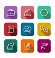 Set of flat business web icons vector