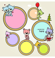 Speech bubble or frame with cute bears - vector