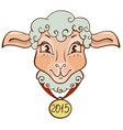 The head of sheep with a gold medal in 2015 vector