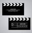 Slate board business card template vector