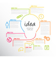 Modern idea infographic template made from lines vector